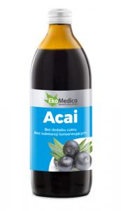 EkaMedica Acai 100% Sok płyn 500ml