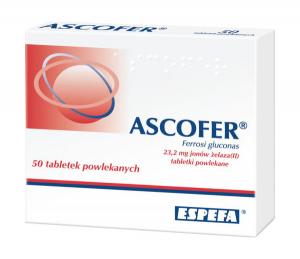 Ascofer 23,2 mg jonów żelaza x 50 draż.