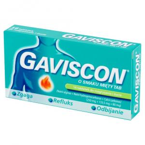 Gaviscon o smaku mięty 16 szt