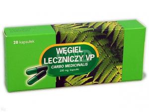 Węgiel leczniczy VP kaps. 0,2g 20kaps.(2bl