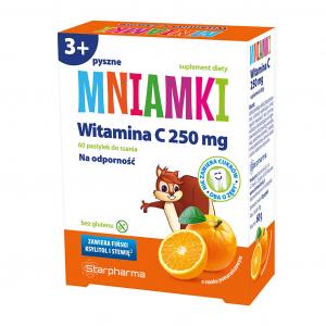 MNIAMKI Witamina C 250mg d/ssania 60 szt.