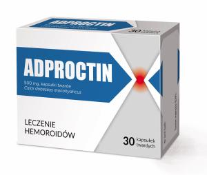 Adproctin kaps.twarde 0,5 g 30 kaps.