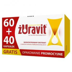 Żuravit 60 kaps.+40 kaps. GRATIS kaps.mięk
