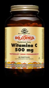 SOLGAR Witamina C smak pomarańczowy pastyl