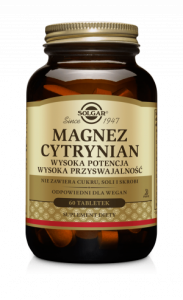 SOLGAR Magnez cytrynian - 60 tabl.