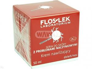 FLOS-LEK krem nawilżający c.naczynkowa