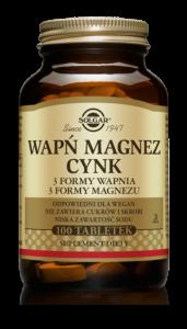 SOLGAR Wapń Magnez+Cynk x 100 tabl.