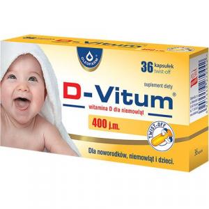 D-Vitum dla niemowląt 400j. x 36 twist-off