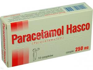Paracetamol Hasco 250mg x 10czopków