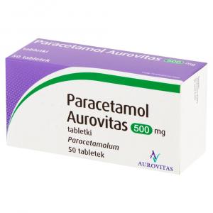 Paracetamol Aurovitas 500 mg 50 tabletek