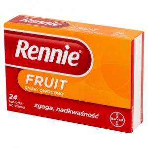 Rennie Fruit x 24 tabl.do ssania