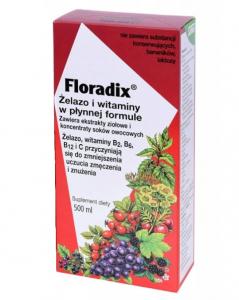 FLORADIX Żelazo i witaminy płyn 500ml