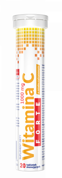 Witamina C FORTE 1000 mg VITTER BLUE 20 tabl.mus.