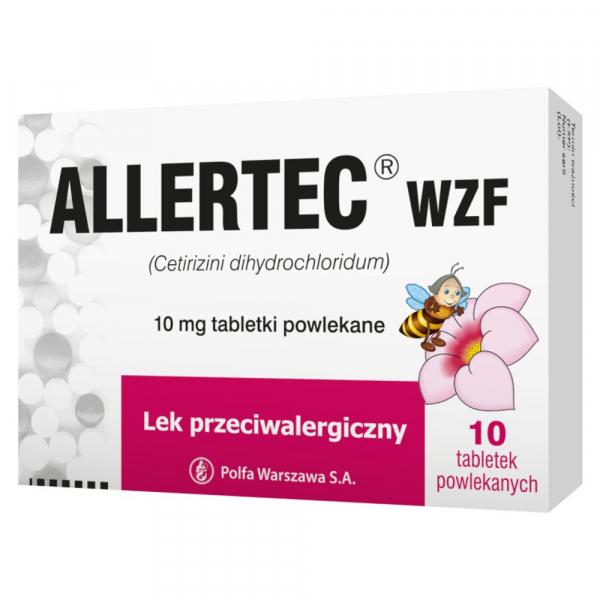Allertec WZF na alergię 10 tabl.powl.