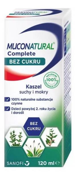 Muconatural Complete bez cukru syrop 120ml