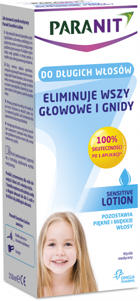Paranit Sensitive Lotion likwiduje wszy i gnidy 150 ml