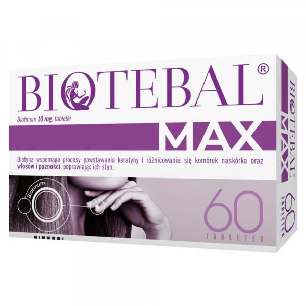 Biotebal Max 0,01 g 60 tabl.